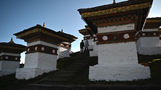中共在领土上对不丹进逼,剑指印度。(法新社)