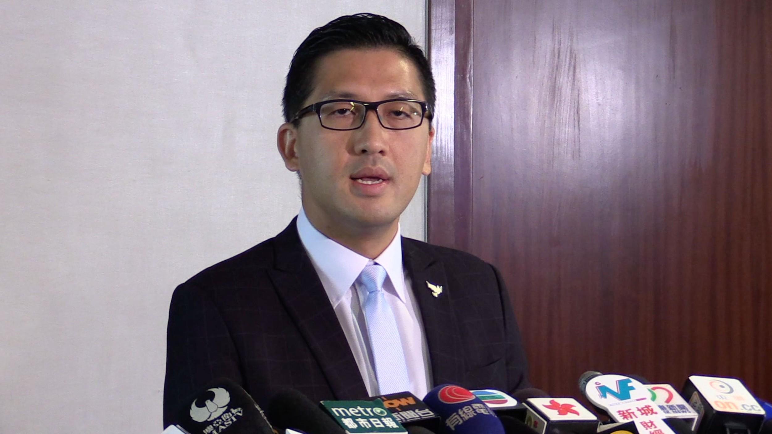 香港民主党立法会议员林卓廷。(本台资料图片)