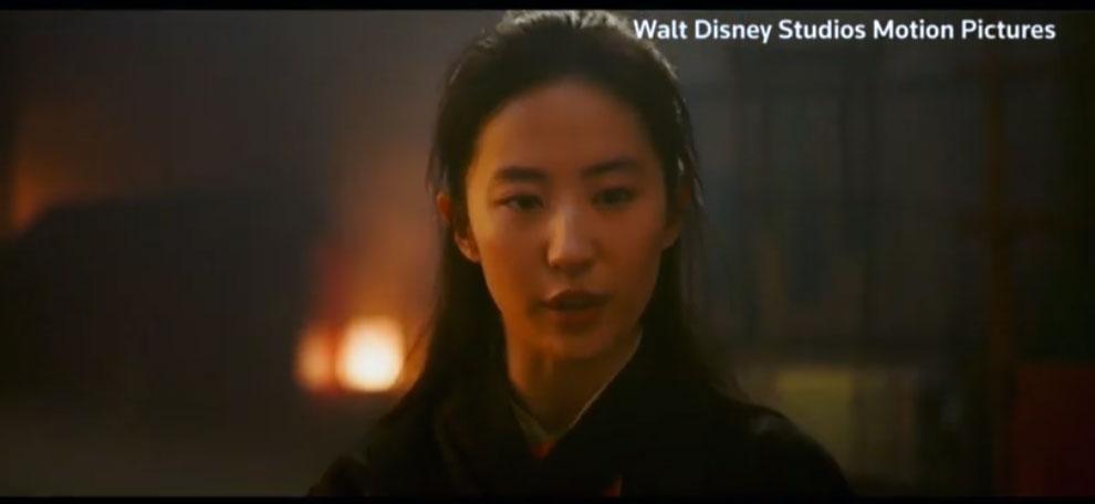 迪士尼真人版《花木兰》预告片,刘亦菲主演。(视频截图/路透社)
