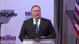国务卿蓬佩奥在全美州长协会2020冬季会议上发表讲话。(美国国务院视频截图)