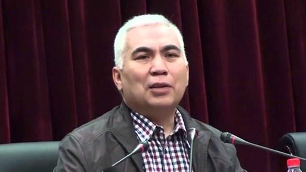 新疆師範大學維吾爾族教授,著名作家和詩人阿卜杜卡迪·賈拉利丁(Abduqadir Jalalidin)。(聽衆提供)