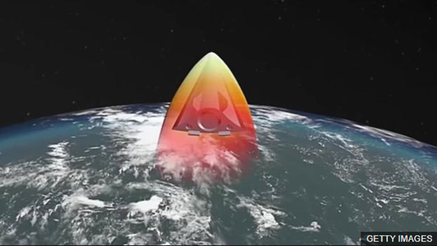 """2019年底,俄罗斯""""先锋""""助推-滑翔高超音速武器正式列装部队。图为""""先锋""""展示图。(Getty Images)"""