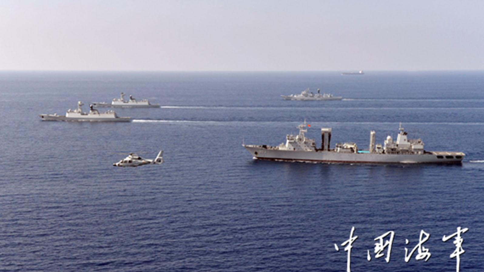 中国海军到亚丁湾的护航编队基本属于柔性军事存在。(中国海军)