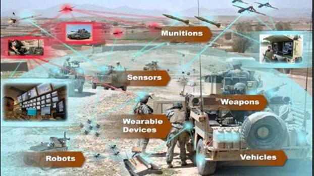 以边缘计算创建一支网络化部队是美军趋势。图为美国陆军物联网战力演示图。(U.S. Army)