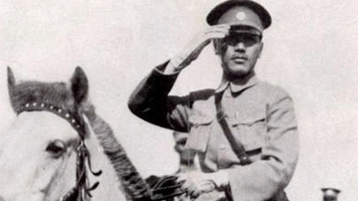 黃埔軍校校長蔣介石1926年誓師北伐。(維基百科)