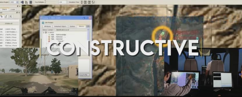 圖爲LVC技術建構式模擬系統(計算機兵棋推演)部分。(視頻截圖)