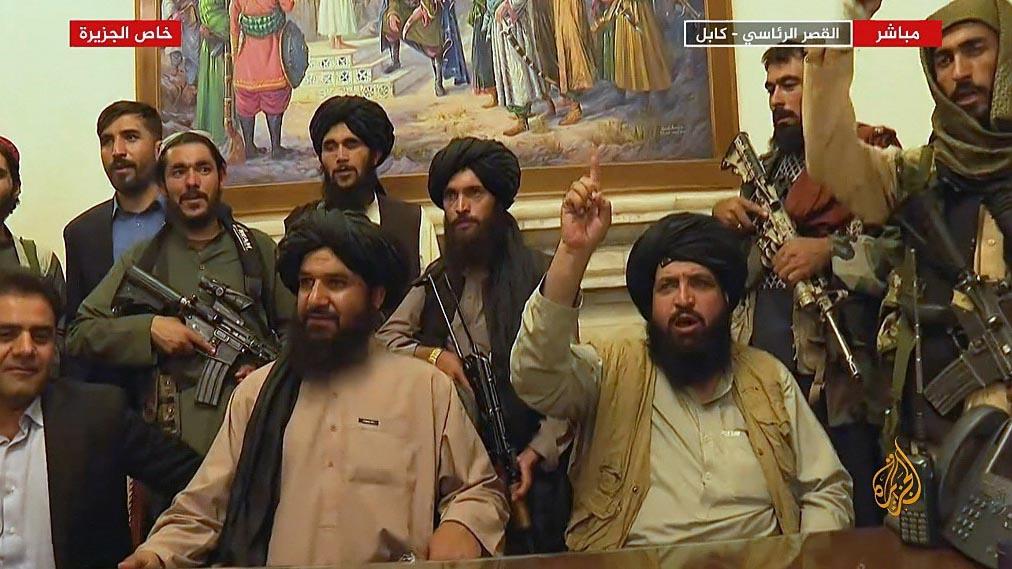 塔利班8月15日攻占总统府重新掌权。(路透社)