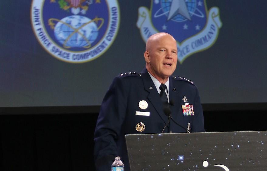 美国首任太空司令部指挥官雷蒙德上将(John W. Raymond)。(Space News)