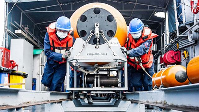 水雷是不对称战力。图为台湾海军操演布放水雷作业。(台湾海军脸书)
