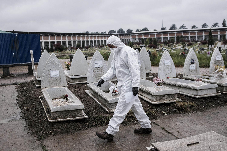 意大利北部工业重镇的新冠肺炎死亡率偏高,矛头指向空气污染。(美联社)