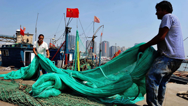 休渔结束后,大陆渔船开捕强度大增,反而抵销休渔成效。(法新社)
