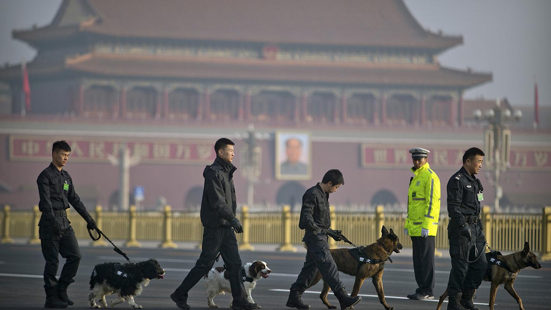 """狗肉产业正反方对峙交锋,中国处于""""内战""""状态。(美联社)"""