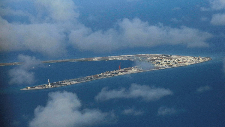 中国在南海岛礁打造军事人工岛,渚碧礁是南沙群岛仅次于美济礁的第二大岛。(路透社)