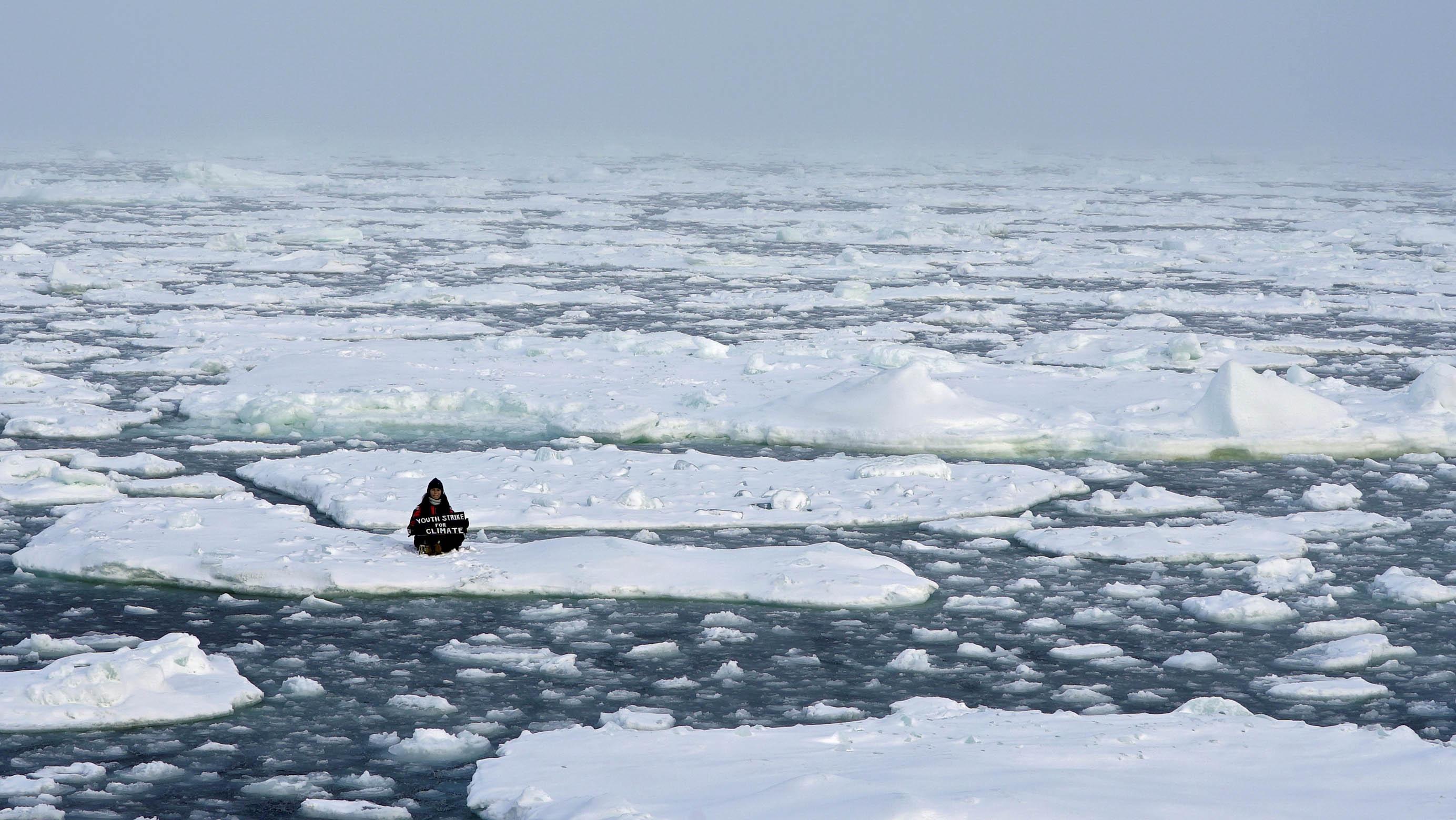 IPCC最新报告指出,在最乐观情况下,2050年前夏季末的北冰洋海冰将完全消失。(路透社)