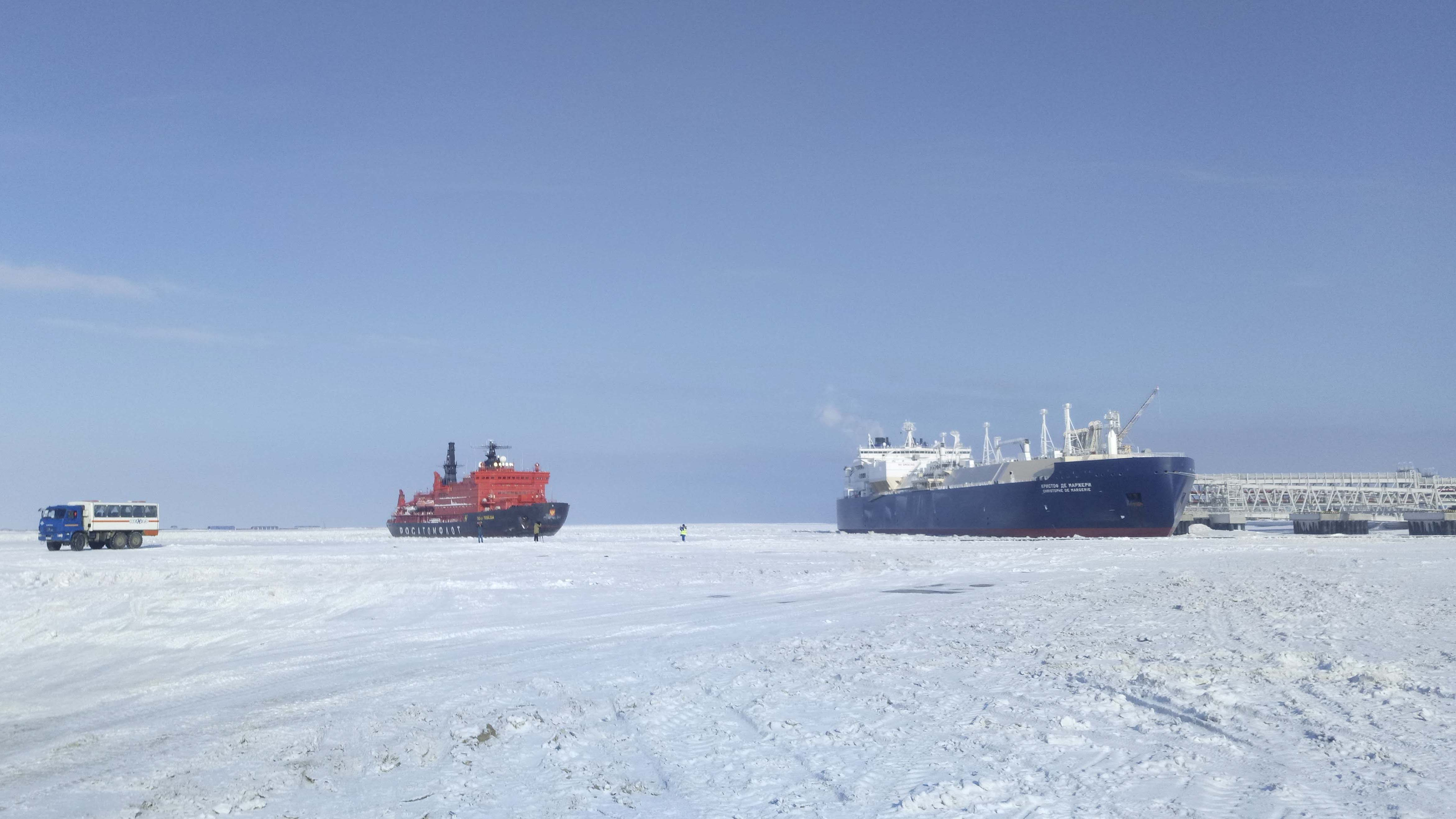 俄羅斯擁有全球最大的破冰船隊,近年積極開通北冰洋的東北航道。(路透社)