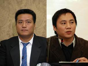 图片:王丹(右)与方政 (资料)