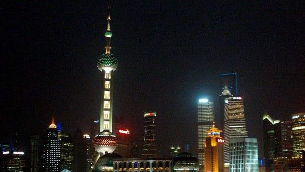 上海浦東夜景(Public Domain)