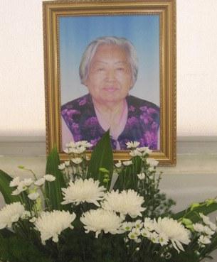 图片: 其林希翎追思会归骨葬礼在其故乡浙江举行。 (林希翎追思会提供)
