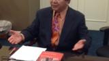 拉玛加先生在研讨会上发言(RFA张敏摄).PNG