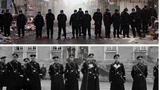 """网上北京驱逐""""低端人口""""与纳粹""""水晶夜""""照片并列比对。(Public Domain)"""