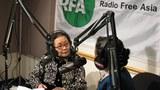 图片:07年3月15日高耀洁在自由亚洲电台接受记者张敏专访 (RFA)