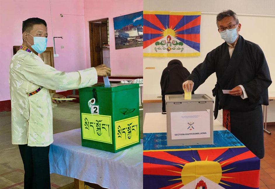 流亡藏人新一届领导人大选选举投票现场。(西藏之声)
