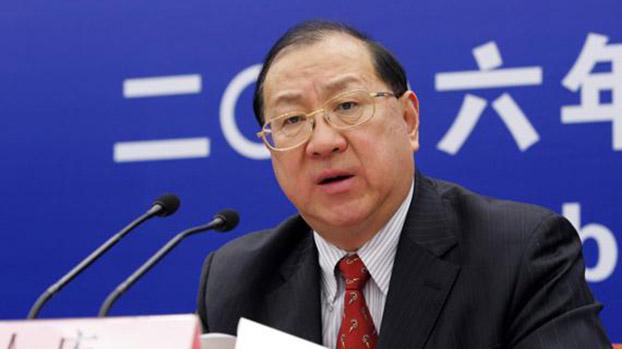 前中国财政部长金人庆。(Public Domain)