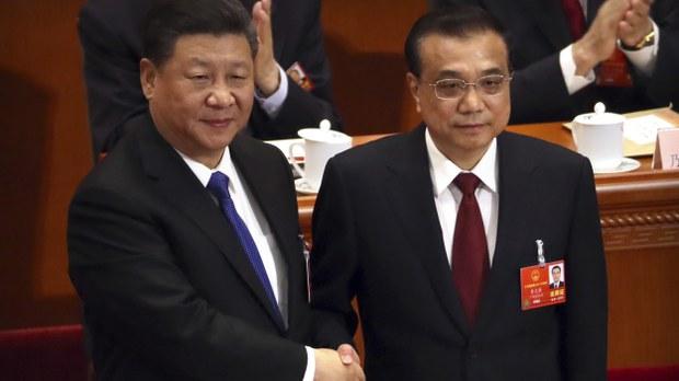 习近平(左)和李克强。(美联社)