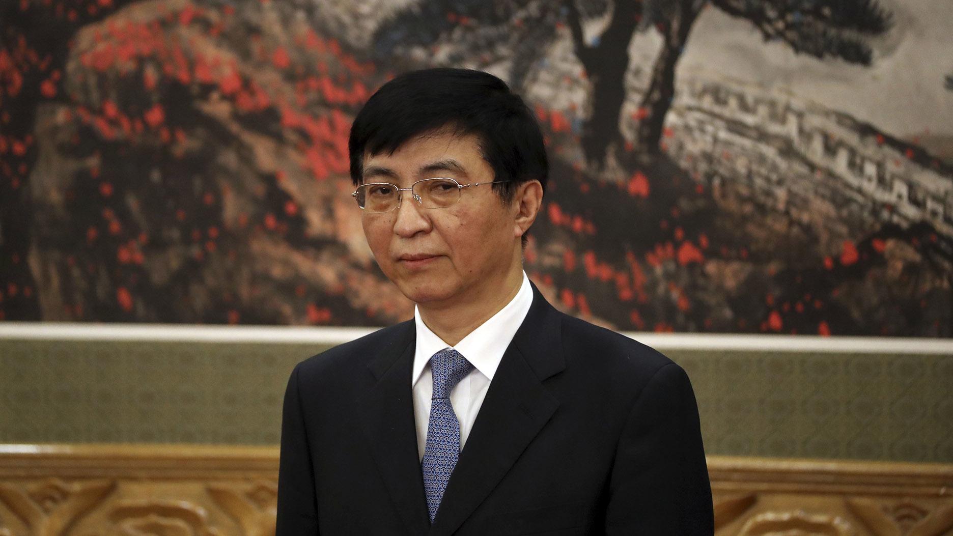 中共中央政治局常委王滬寧。(美聯社)