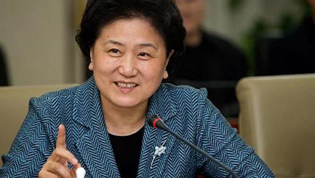 """孫春蘭的上屆女副總理、被習近平尊稱爲""""學姐""""的劉延東。(Public Domain)"""