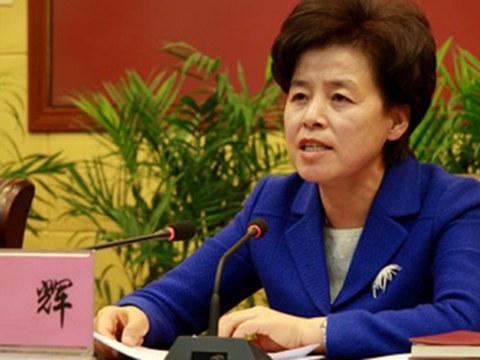 现任宁夏自治区主席、从甘肃起家的回族妇女干部咸辉。