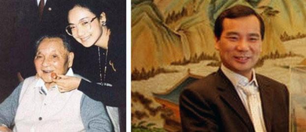 左起:邓小平与外孙女邓卓芮, 吴小晖。(Public Domain)
