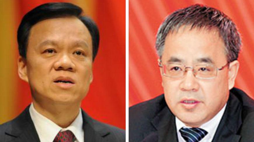 陈敏尔(左)、胡春华。(public domain)
