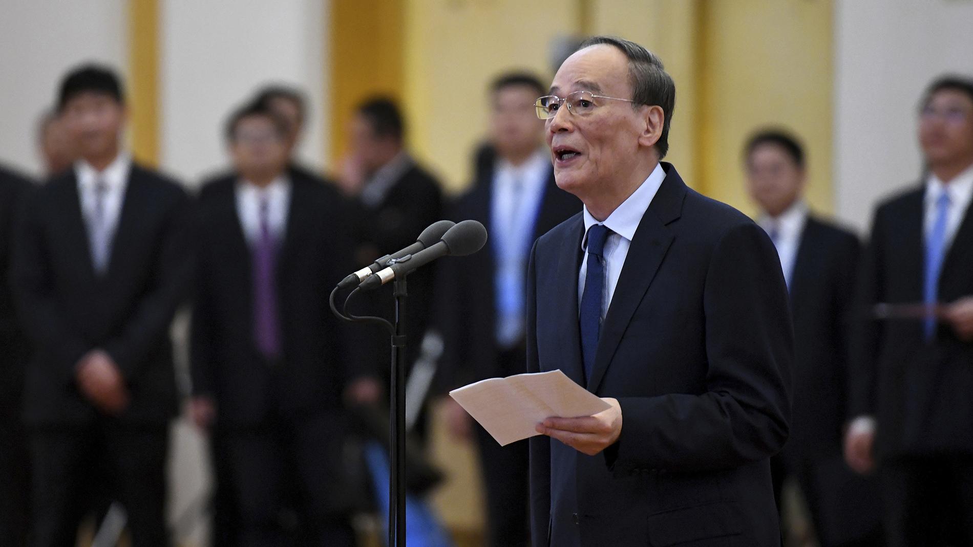 中国国家副主席王岐山。(美联社)