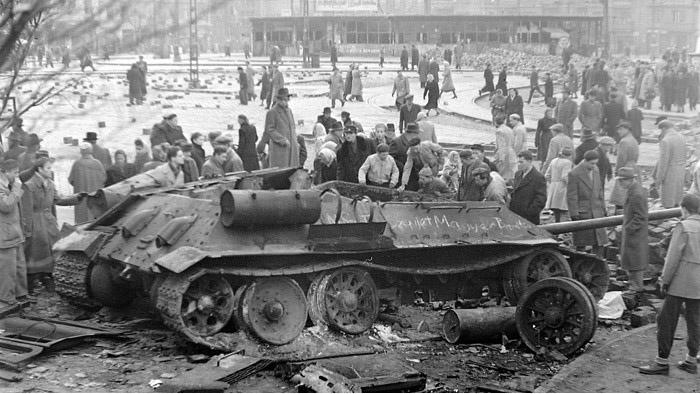 匈牙利1956年起义。(Public Domain)