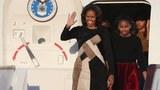 ཨ་རིའི་སྲིད་འཛིན་ཨོ་བྷ་མའི་ལྕམ་Michelle Obamaརྒྱ་ནག་ལ་འབྱོར་སྐབས། ༢༡༠༤།༣།༢༠