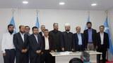 Dunya musulman alimlar birlikining bash katipi doktor aliy qaradaghi ependim istanbuldiki Uyghurlar bilen birlikte. 2016-Yili 3-öktebir. Istanbul, türkiye.