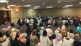 Amérikining paytexti washin'gton shehiri etrapidiki Uyghur jama'iti qurban héyt namizida. 2018-Yili 21-awghust.
