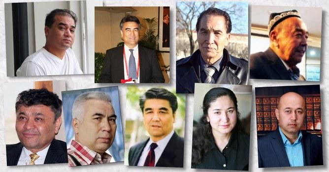 Xitay hökümiti teripidin muddetlik we muddetsiz qamaqqa buyrulghan Uyghur ziyaliylar.