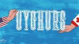 Amérika we kanadaning Uyghurlarni qollighanliqi toghriliq layihelen'gen karton.
