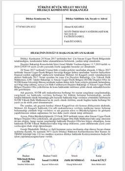 Türkiye büyük millet mejlisi erziyet bölümining memet'eli qeshqerli heqqide xulase qarari.