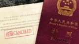 Xitay elchixaniliri teripidin inawetsiz qiliwétilgen pasportlarning biri.
