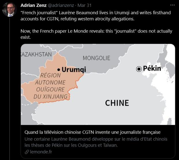 Xitayning Uyghur irqiy qirghinchiliqni ret qilish üchün saxta muxbir yasap chiqqanliqi ashkarilan'ghan