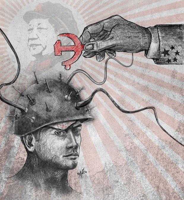 Xitay kompartiyisi özining 100 yilliqini Uyghurlarning méngisini yuyush bilen tebriklimekte