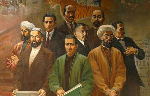 20-Әсирниң башлиридики түркистан җәдидчилири вә уларниң бир қисим вәкиллири.