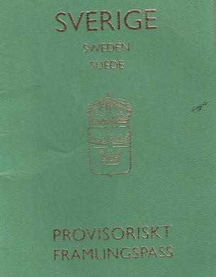 ئالماسبەگنىڭ ھىندىستاندىن چىقىشى ئۈچۈن شۋېتسىيە ئەلچىخانىسى تەمىنلىگەن ۋاقىتلىق سەپەر پاسپورتى