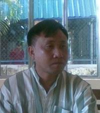 Ông Nguyễn Bắc Truyển tại trại giam Xuân Lộc. Photo courtesy of ddcvn.info