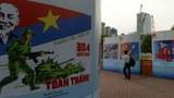 Panô tuyên truyền cho ngày 30 tháng 4 tại Sài Gòn hôm 11/4/2015