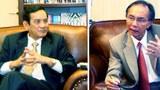 Đại sứ Việt Nam tại Hoa Kỳ Lê Công Phụng (ảnh trái), trong cuộc trả lời phỏng vấn nhà báo Lý Kiến Trúc (ảnh phải).