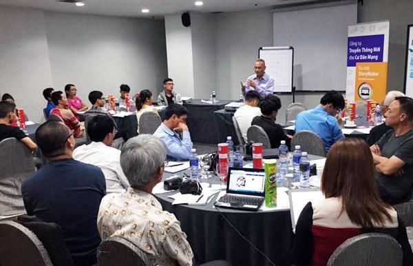 Buổi ra mắt công cụ truyền thông công dân StoryMaker tại Singapore hôm 15/5/2015.